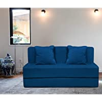 Aart Store 3x6 Two Seater Sofa Com Bed Furniture Washable Cover (Blue)