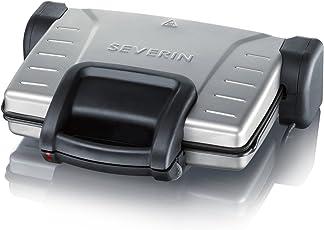 Severin KG 2389 Kontaktgrill, schwarz-silber