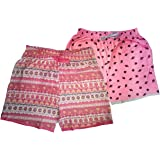 Malvina Women's Printed COTTON1 Shorts (Multicolour) Pack of 2