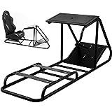 VEVOR Soporte para Volante Asiento para Simulación de Conducción Racing Simulator Simulador de Conduccion PS4 Completo Simula