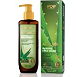 WOW Skin Science Aloe Vera With Hyaluronic Acid and Pro Vitamin B5 Hydrating Gentle Face Wash - No Parabens, Silicones & Colo