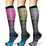 ACTINPUT Calcetines de Compresión Medias de Compresion Mujer y Hombre para Running,Atlético, Ciclismo,Médico, Enfermera,Volar
