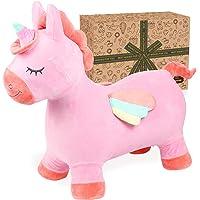 Toyssa Cavallo Gonfiabile Bambini Unicorno Cavallo per Saltare Cavallo Gonfiabile Cavalcabile Esterni e Interni Animale…