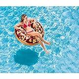107 cm PVC Folie ca Lustiger Donut Badering Schwimmring Schwimm Ring Schwimmreifen Reifen Swim Ring Schwimmreifen aufgeblasen ca 0,20 mm super Schwimmspass Kinder Spass