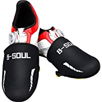 Geyoga 2 Pairs Cycling Shoe Covers Breathable Cycling Toe Covers, Windproof Thermal Cycle Toe Cover Waterproof Biking…