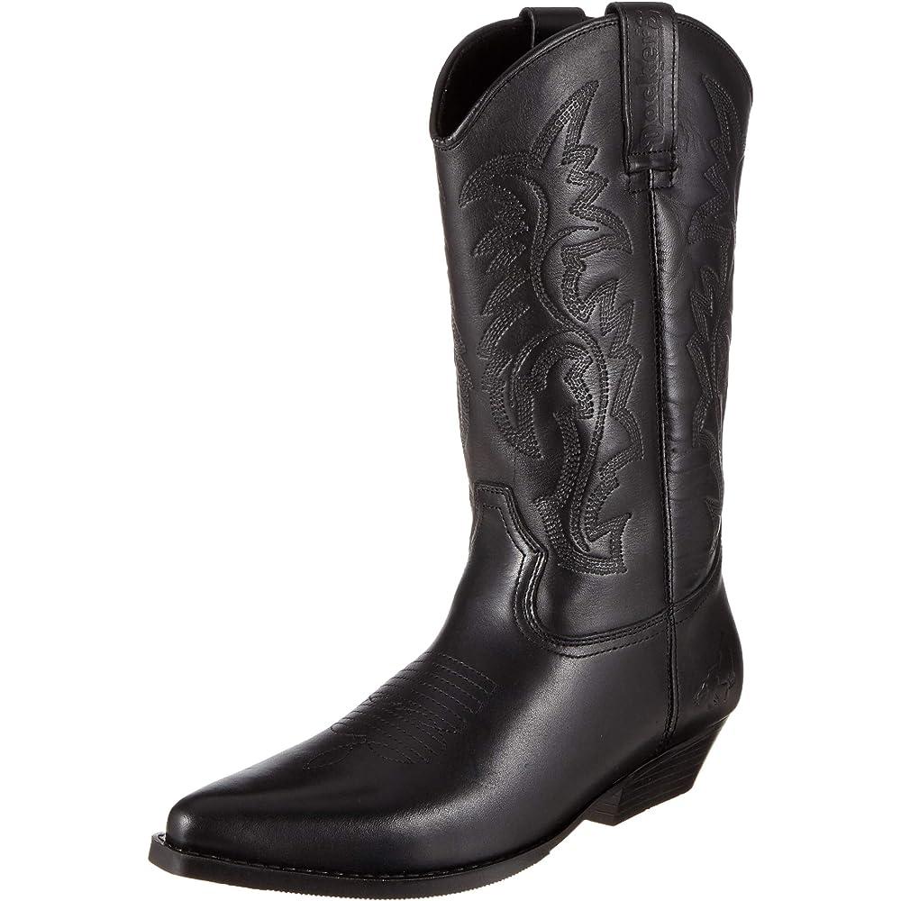Gerli,stivali western per uomo,in pelle 43bl001