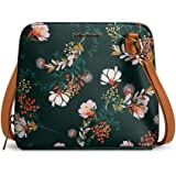 DailyObjects Lush Midnight Trapeze Sling Crossbody Bag for girls and women   Vegan leather, Stylish, Sturdy, Zip closure with