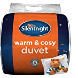 Edredón cálido y Acogedor de Silentnight, ColorBlanco, Microfibra, Blanco, Suelto