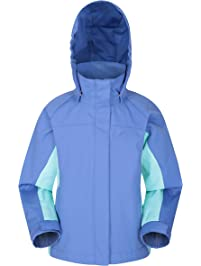 912bcd03 Mountain Warehouse Shelly II Kids Jacket - Waterproof Rain Coat, Taped  Seams Childrens Coat,