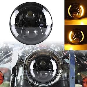 7inch Runde 50w 6500k Cree Led Scheinwerfer Kit Hi Lo Beam Motorrad Fahrlicht Mit Drl Blinker Halo Ring Angle Eyes Für Harley Davidsion Auto