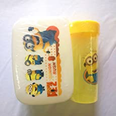 Shopkooky Minion Printed Set of Lunch Box with Water Bottle