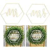 Outgeek 2 st brudgum och brud bröllop stol skylt trä dekorativ bröllop hängande skylt bröllop stol dekor manus trä bokstav sk