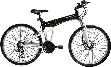 Ecosmo 26AF18BL Klappbare MTB Fahrrad 66cm Räder Aluminium Shimano