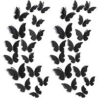 120 Pièces 60 Paires Décoration Murale Papillon en Couches 3D Autocollants Papillon Amovibles Stickers Muraux Creux…