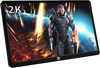Magedok 13.3 Inch 2K Resolution Portable Gaming Monitor IPS Quad-HD 2560 * 1440 LCD Display with USB C/Hdmi Input,HDR,5V USB Powered,Slim,CNC Aluminum Case,Built in Speakers