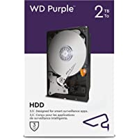 WD Purple 2 TB Überwachung 3,5 Zoll Interne Festplatte – AllFrame 4K – 180 TB/Jahr, 64 MB Cache, 5.400 RPM Class