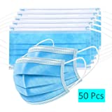 Bildos Non Woven Fabric 3 Ply Surgical Mask With Nose Pin - 50 Pcs (Blue)