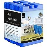 KEPLIN Home Freezer Blocks Family Pack (x6 Blocks) - Keeps Food and Drink Cooler for Hours