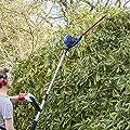 Qualtex 450W Telescopic Electric Pole Hedge Trimmer Cutter - 460mm Cutting Length - Extra Long Reach