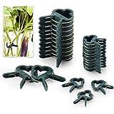FORMIZON 80 Pcs Clip de Jardín, Clip de Jardinería de Plástico para Plantas de Jardín, Reutilizable Jardín Planta, Patio Apoy
