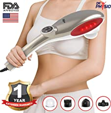 Dr Physio (USA) Active Hammer Electric Powerful Body Massager with Vibration (Silver)