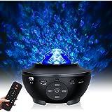 Lampe Projecteur LED Étoile, Projecteur de Veilleuse avec 10 couleurs et haut-parleur Bluetooth, projecteur Ocean light avec