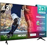 Hisense 43AE7000F UHD TV 2020 - Smart TV Resolución 4K con Alexa integrada, Precision Colour, escalado UHD con IA, Ultra Dimm
