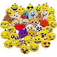 JZK 38 Piccoli Giochi Giocattoli Peluche 5cm Mini Emoji Portachiavi Emoticon Whatsapp Regalo Compleanno Natale…