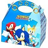 ALMACENESADAN Pack 4 boîtes en Carton Sonic pour Les Anniversaires