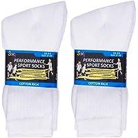 12 Pairs Boys Cotton Rich Sport Socks School Socks Shoe Sizes 9-12, 12-3, 4-6