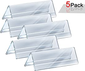 Hibhasu 5Pcs Acrylic Name Plate Table and Desk Name Plate for Office (8 inches)
