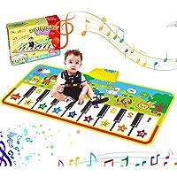 RenFox Tappeto Musicale Bambini, Tappetini Pianoforte con 8 Suoni di Animali e 9 Melodie Tappetini Musicale Strumento…