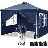 Homdox Carpa de aluminio para jardín, 3 x 3 m, cenador ...