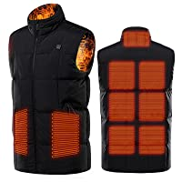 ADMLZQQ M-7XL 5V USB Heated Vest, 9 Zone Velvet Heating Vest Body Warmer washable Clothes without radiation, 3 different…