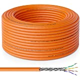 deleyCON 30m Cat.7 Cable de Instalación Cobre Rígido S/FTP PIMF Cable de Red Cable de Instalación Cable LAN Cable de Ethernet