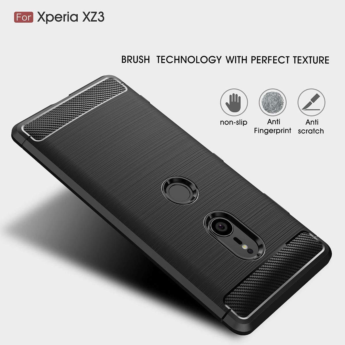 b8ba5640490 Tianqin Sony Xperia XZ3 Funda, Ultra-Delgado Ultraligero de Amortiguación Silicona  TPU ...
