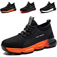 YISIQ Safety Shoes Men Women Steel Toe Trainers Lightweight Work Shoes Breathable Protective Work Industrial Sneakers