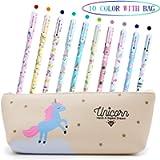 Penne per Unicorno Ragazze Regalo di Compleanno per Bambine, VSTON Simpatiche penne per unicorno Set per penne a Sfera…
