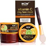 WOW Skin Science Vitamin C Glow Clay Face Mask with Lemon & Orange Essential Oils, Jojoba Oil & Bentonite Clay - For All Skin