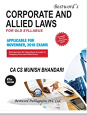 CORPORATE AND ALLIED LAWS FOR OLD SYLLABUS APPLICABLE FOR NOV. 2018 EXAMS