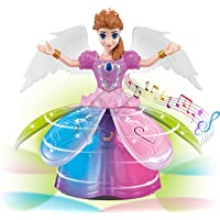 TAPUJI Fairy Princess Dolls Toys Dancing Rotating Singing Musical Toy for Girls Battery Operated Bump-N-Go with…