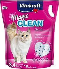 Vitakraft - Magic Clean, Perlas de Gel de Sílice Súper Absorbentes - 8,4 L / 3,7 kg