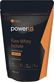 Powerus Raw 100% Isolate Whey Protein Powder 27 gm Isolate Protein Per Servings - 33 Servings/ 1 Kg
