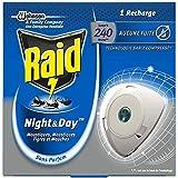 Raid Recharge Pour Diffuseur Électrique Night&Day Mouches, Moustiques Et Moustiques Tigres, 1 Recharge 240 Heures