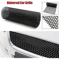 Elikliv Universal Car Grille 40x13 25mm x 8mm Aluminium Car Vehicle Racing Grille Mesh Vent Car Tuning Grill Black Mesh Sheet for Bumper Body Kit Fender