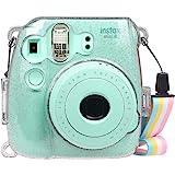 FINTIE Funda para Fujifilm Instax Mini 9/Mini 8+/Mini 8 - Bolsa Protectora Transparente de Colores para Cámara Instantánea PV