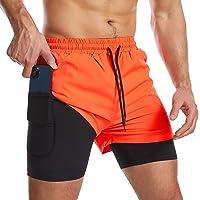 Danfiki Pantaloncini Sportivi da Uomo Running Shorts Asciugatura Rapida con Tasca per Jogging Fitness Allenamento