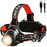LED hoofdlamp, 2000 lm, zwart/oranje