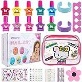 Anpro Set di Smalti per Unghie per Principessa - Comodo Kit per Nail Art con Smalto per Unghie Staccabile Manicure Beauty per