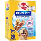 Pedigree Dentastix - Friandises pour grand chien, 112 bâtonnets à mâcher pour l'hygiène bucco-dentaire (Lot de 4 boites de 28